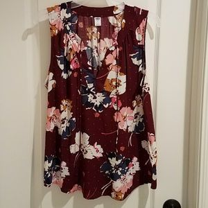 NWOT floral top